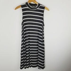LUSH mock neck sleeveless striped dress medium